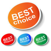 "Sticker ""best choice"" — Stock Vector"
