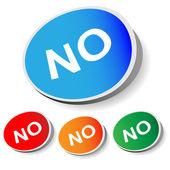 """Sticker """"No"""" — Vector de stock"""