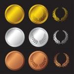 Set medals — Stock Vector