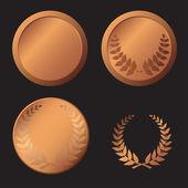Bronzemedaille — Stockvektor