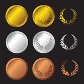 Set medals — Stock Vector