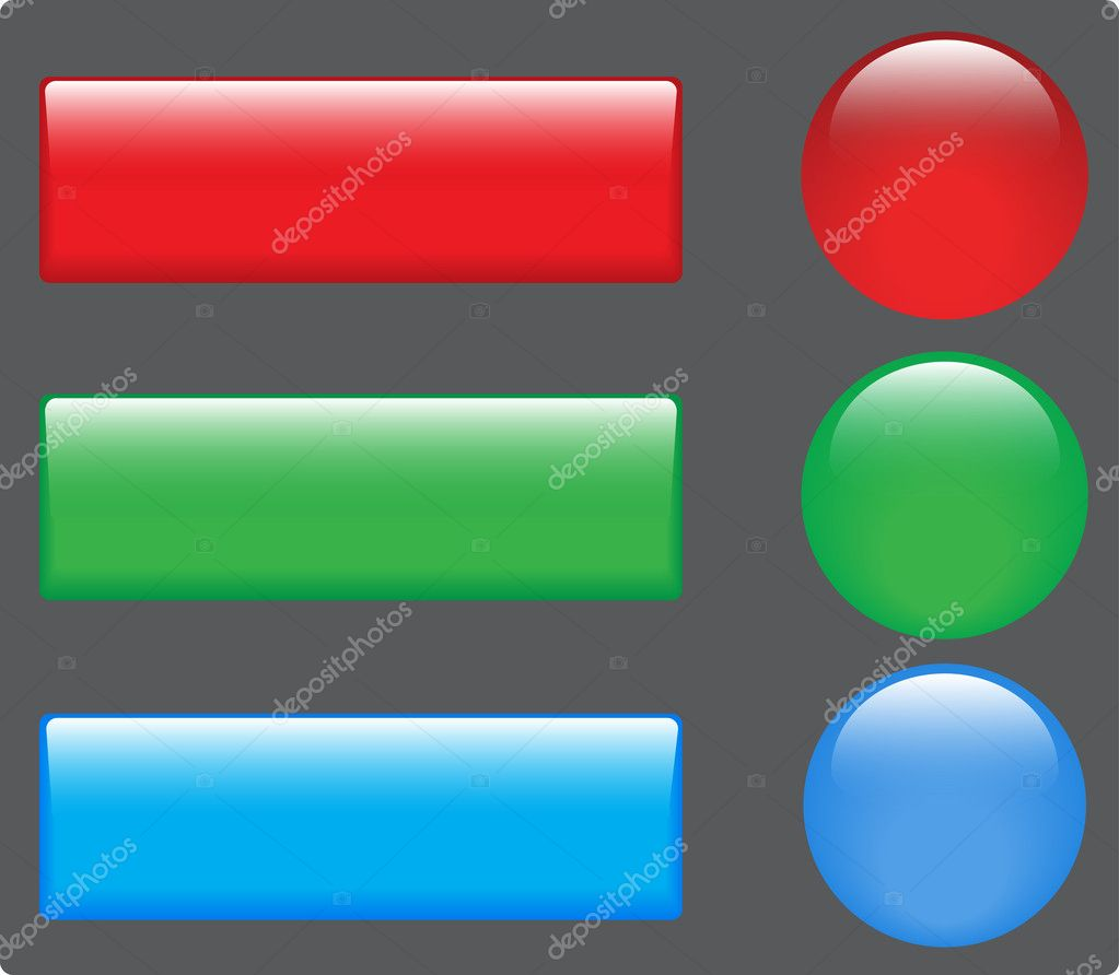 Web color buttons. Vector image for design — Stock Vector #12144629