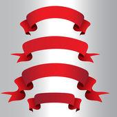 Vector set ribbons — Stock Vector