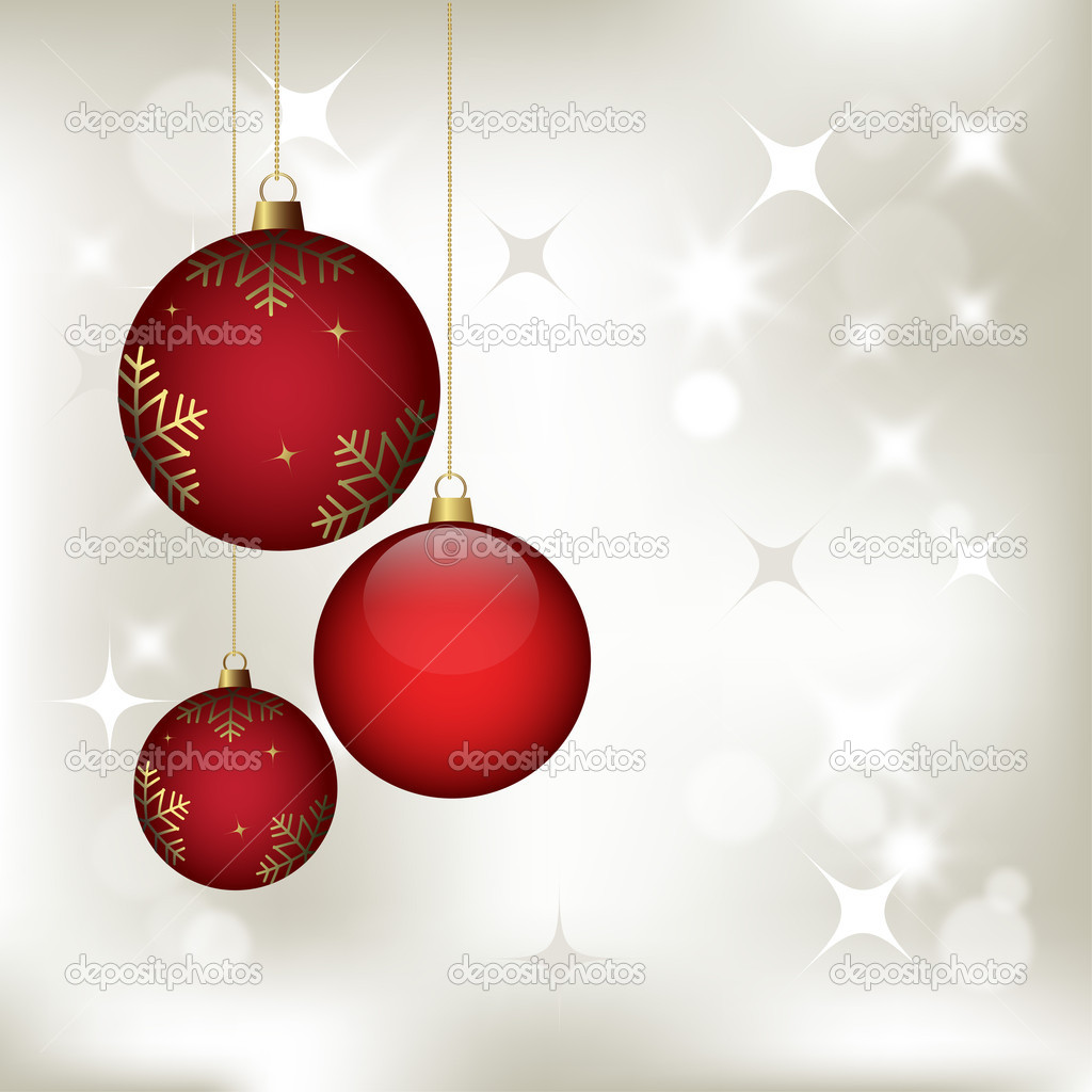 Christmas background with baubles, vector for design  Stock Vector #12266670