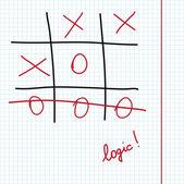 "Logic game ""Tic Tac Toe"" — Stock Vector"