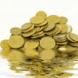 Coins in water — Stock Photo #10851814