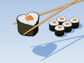 Sushi Love — Stock Vector