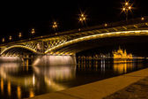 The Margaret Bridge and the Parliament — Stock Photo