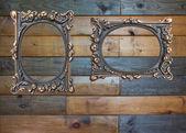 Vintage brass frames — Stock Photo