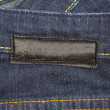 Jeans with label — Stock Photo #11434894