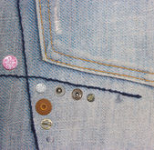 Decorated jeans — Stock Photo