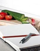 Libro de recetas — Foto de Stock