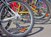 Parking of bicycles — Stock Photo