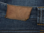 Jeans with label — Stock Photo