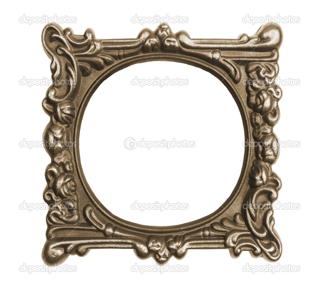 Ornate vintage frame isolated on white background — Stock Photo #11849131