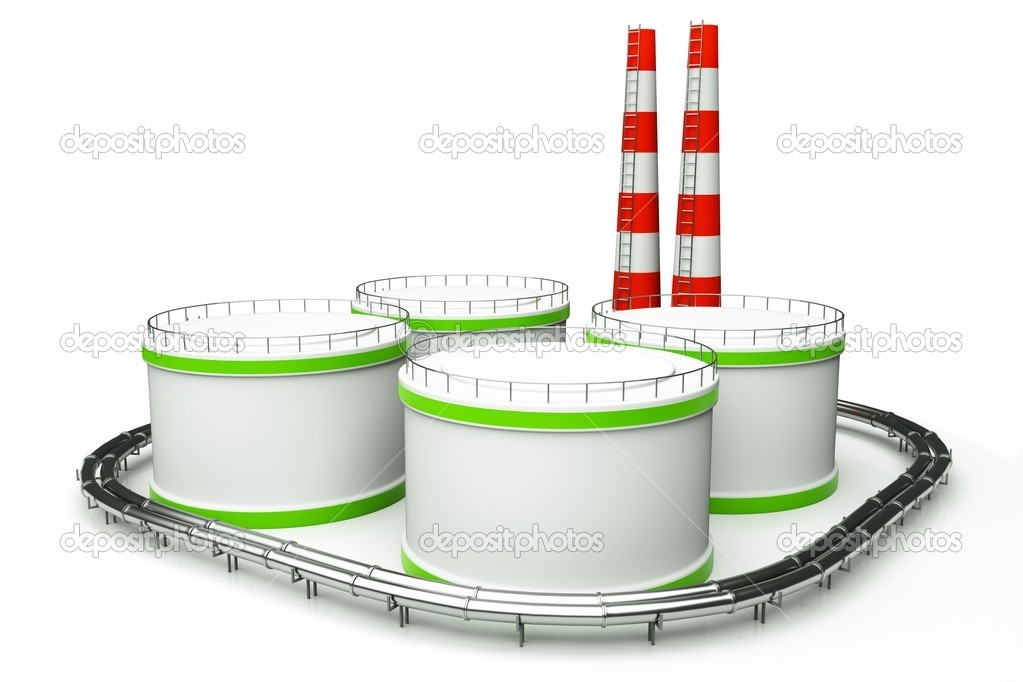 3d model of oil factory — Stock Photo #11028300