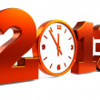 Clock 2013 — Stock Photo