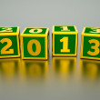 Cubes 2013 — Stock Photo