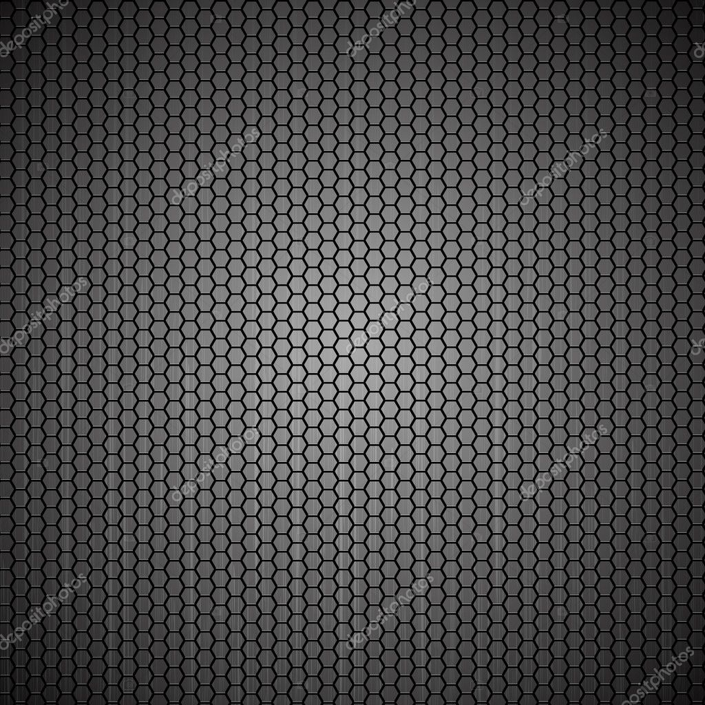 Metallic abstract backdrop with hexagon grid texture - eps8 vector format — Stock Vector #11134010