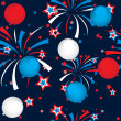 Seamless pattern of fireworks and balloons — Stock Vector #11047225