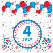 July 4th celebration background — Stock Vector
