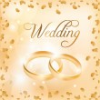 Royalty-Free Stock Vector Image: Wedding banner with the wedding rings