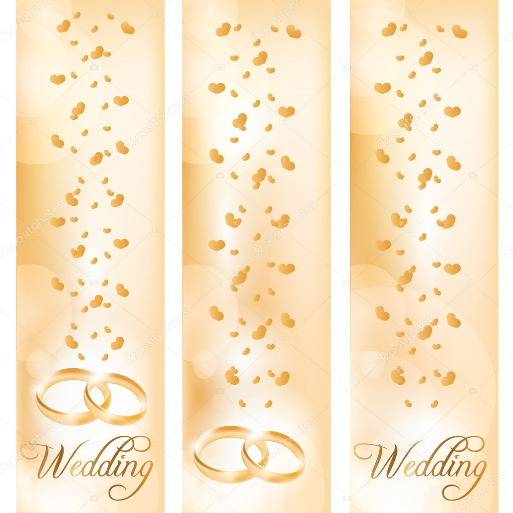 Banner Wedding Vector Wedding Banner With The