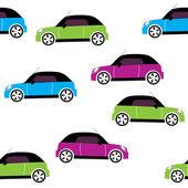 Padrão sem emenda de vetor com carros — Vetorial Stock