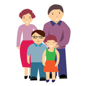 Vector illustration of a family — Stock Vector