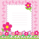 Vector background with pink flowers — Stockvector