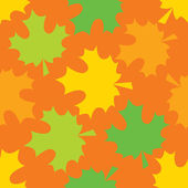 Vector seamless pattern of maple leaves — Vettoriale Stock