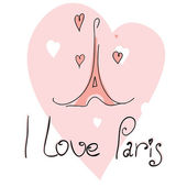Vector illustration I love paris — 图库矢量图片