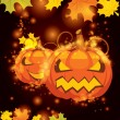 Vector illustration Halloween pumpkin — Stock Vector