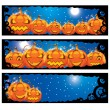 Stock Vector: Vector illustration of halloween banners