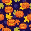 Royalty-Free Stock Vector Image: Seamless pattern of Halloween