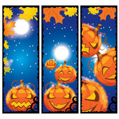 Vector illustration of halloween banners — Stock Vector