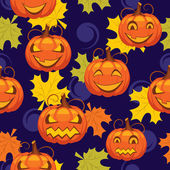 Seamless pattern of Halloween — Stock Vector