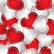 Vector seamless pattern of heart — Image vectorielle