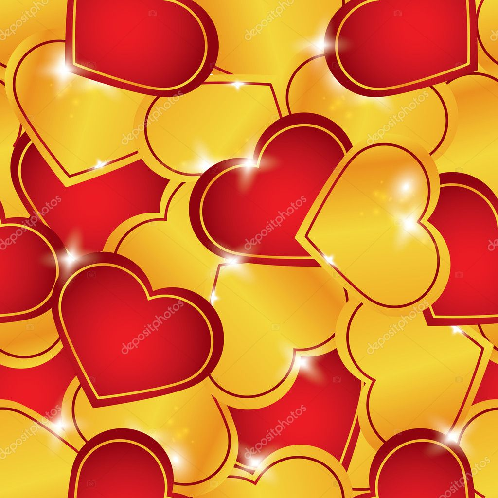 Vector seamless pattern of heart — Image vectorielle #11749627