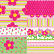Set of vector backgrounds for a baby girl — Stock Vector #11770501