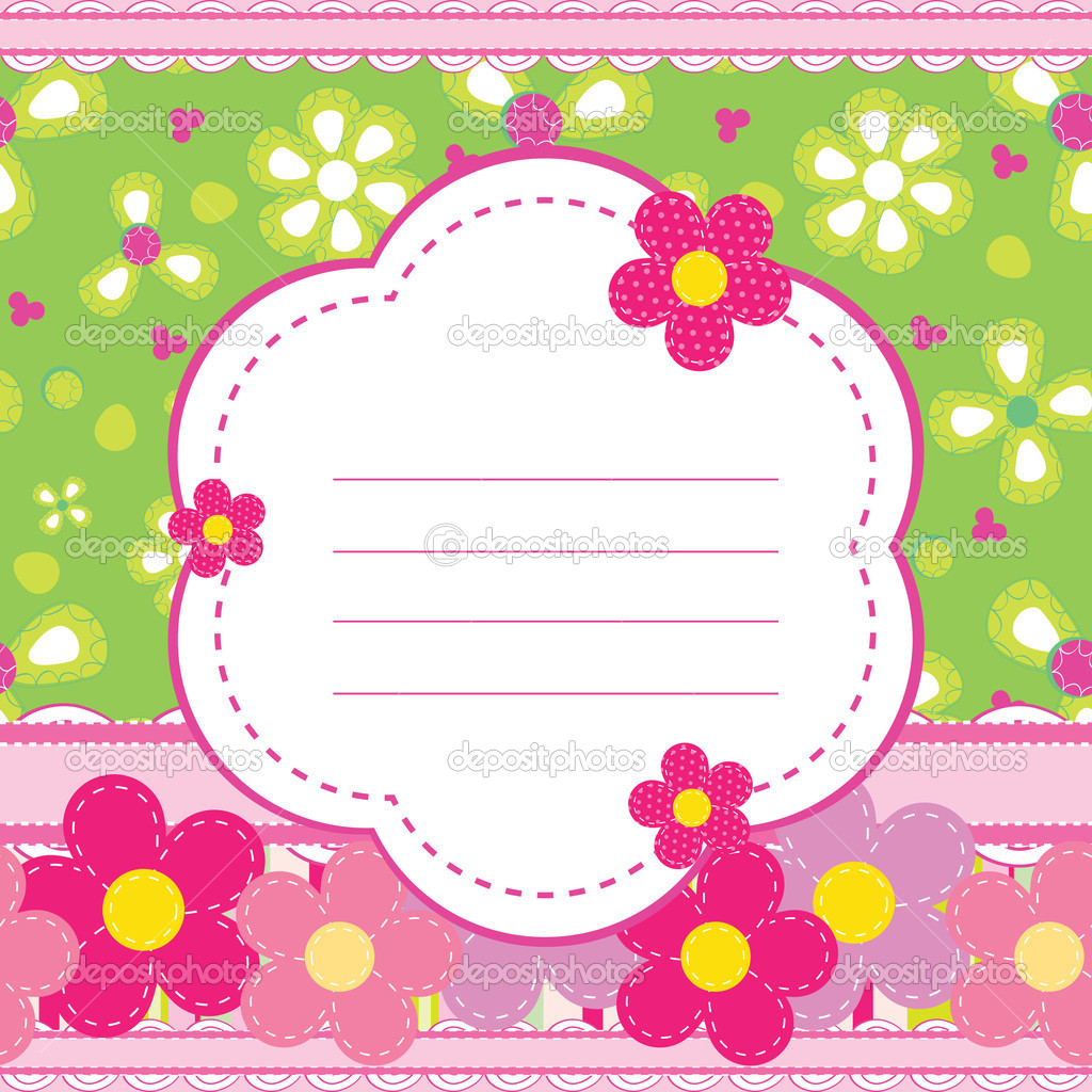 Vector background for a baby girl — Stock Vector ...