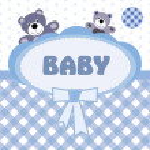 Baby boy announcement card — Stock Vector #11901792