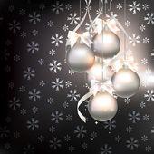 Vánoční ozdoby na abstraktní pozadí — Stock vektor