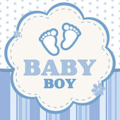 Vector background for a baby boy — Stock Vector
