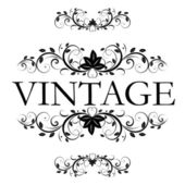 Vector vintage decor — Stock Vector