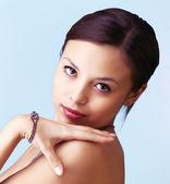 Beautiful woman with jewellery — Stock Photo