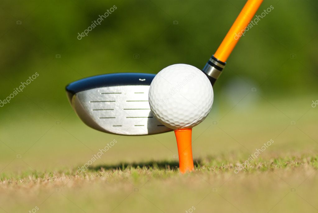 Golf on a driving range — Stock Photo #10868091