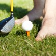 Funny golf game — Stock Photo