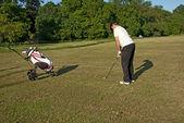 Golfa na strzelnicy — Zdjęcie stockowe
