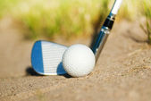 Playing golf. bunker — Stock Photo